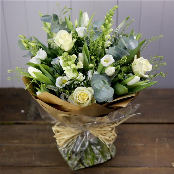 Florist's Choice White Handtied